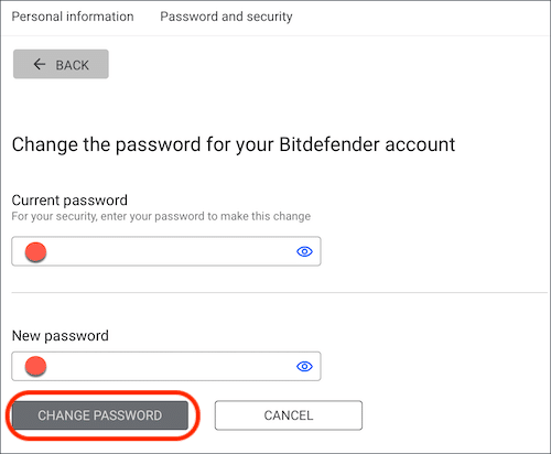 Step 3. If you are already login and want to change the log in detail